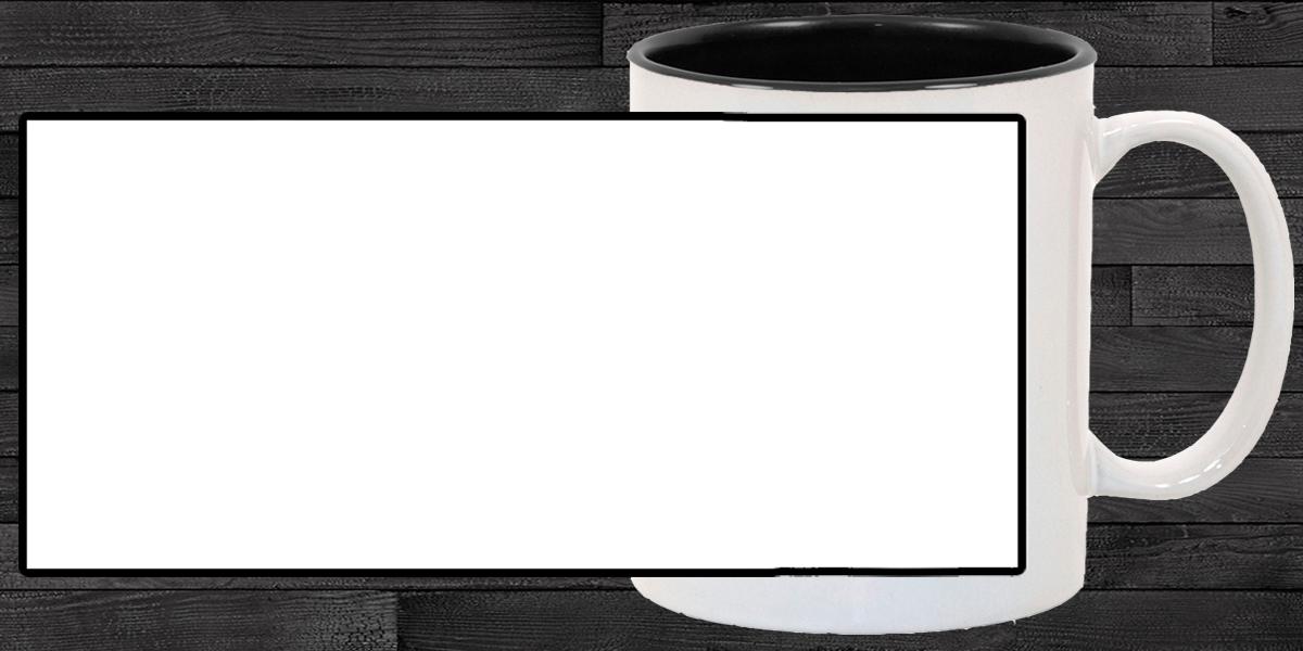 Кружка белая, внутри чёрная (можно редактировать!)