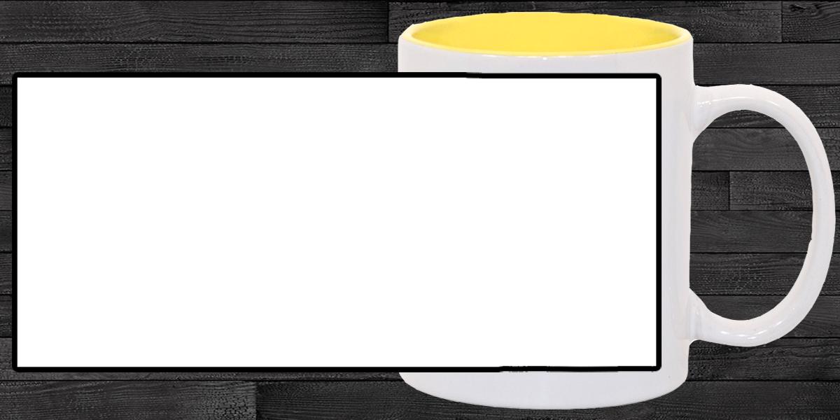 Кружка белая, золотая желтая внутри (можно редактировать!)