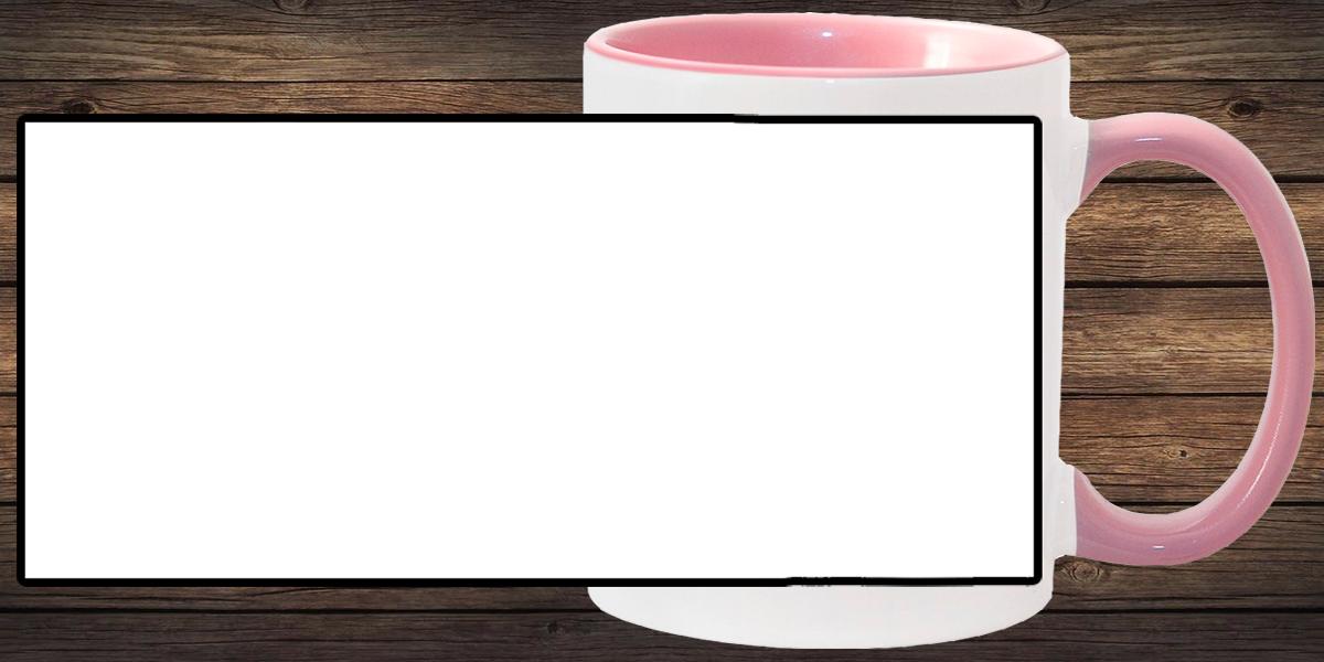 Кружка белая, розовая внутри и ручка (можно редактировать!)