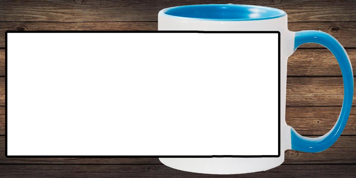 Кружка белая, светло-синяя внутри и ручка (можно редактировать!)
