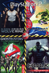 GHOSTBUSTERS THE VIDEO GAME (PS2)/ X-MEN ORIGINS: WOLVERINE (PS2)/ SPIDERMAN: WEB OF SHADOWS (PS2)/ THE INCREDIBLE HULK (PS2)