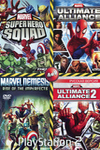 Marvel Ultimate Alliance 2: Fusion / Marvel Nemesis Rise of The Imperfects / Marvel Super Hero Squad / Marvel Ultimate Alliance (PS2)